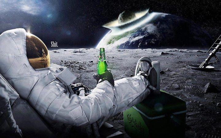 бира на луната