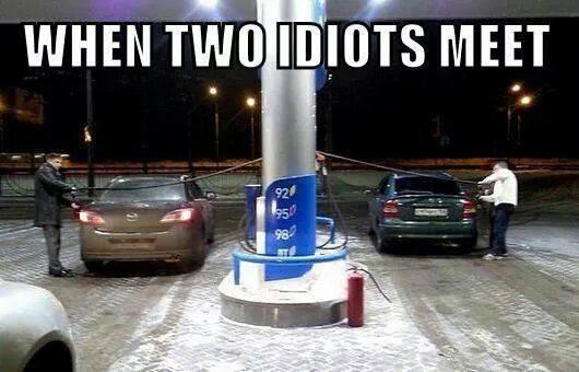двама идиота се срещнат